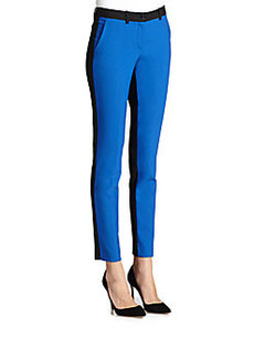 Michael Kors Colorblock Stretch Wool Slim Trousers