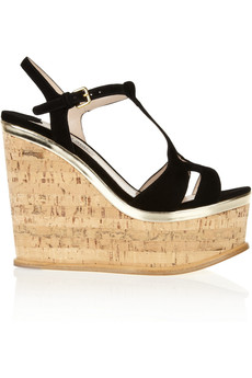 Miu Miu Suede wedge sandals