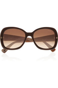 Lanvin Square-frame printed sunglasses
