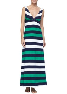 Tommy Bahama Mare Rugby-Striped Maxi Dress