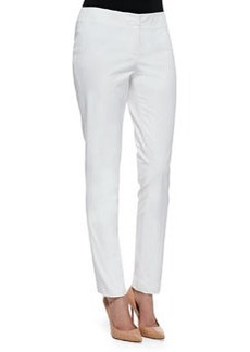 Lafayette 148 New York Downtown Straight-Leg Pants, White