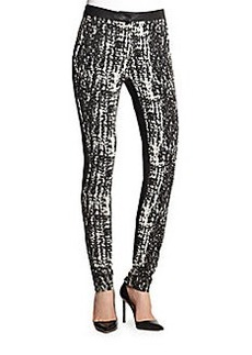 Diane von Furstenberg Dorithia Leather Combo Pants
