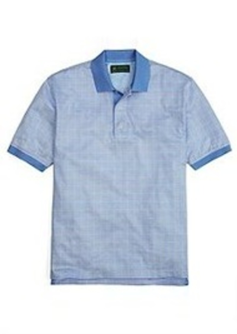 Brooks Brothers St Andrews Links Checker Polo Shirt