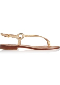 Diane von Furstenberg Cailin metallic leather sandals