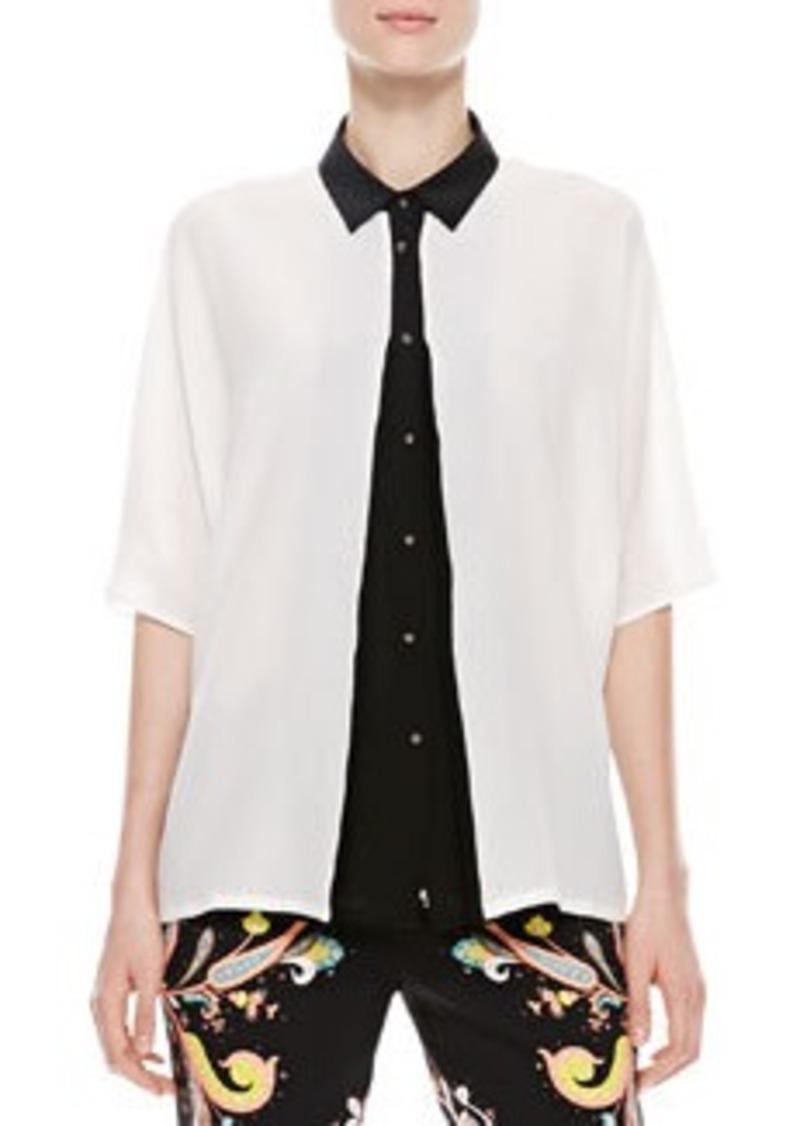 Kimono Top, White/Black   Kimono Top, White/Black