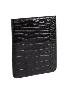 Jimmy Choo black croc embossed leather 'Tyler' iPad case