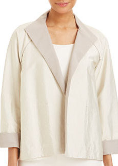 Lafayette 148 New York Valeria Long Sleeve Topper Jacket, Oyster/Papyrus