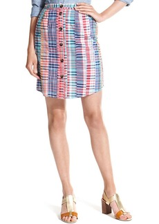 Tommy Hilfiger Printed Button-Front Skirt