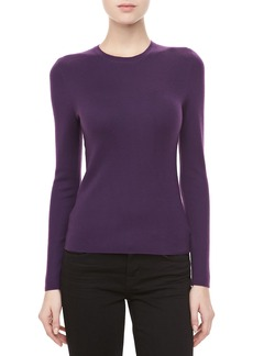 Michael Kors Long-Sleeve Cashmere Sweater, Blackberry