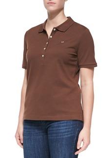 Escada Short-Sleeve Polo, Brown
