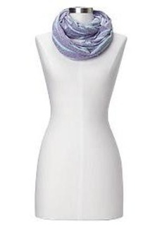 Heathered stripe infinity scarf