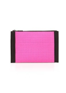 French Connection Perforation Celebration Clutch Bag, Pink