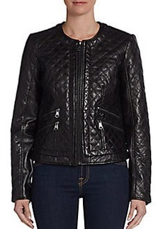 MARC NEW YORK by ANDREW MARC Milly Quilted Leather Jacket