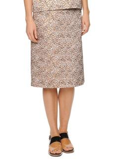 Marni Pleat-Back Jacquard Skirt