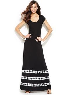 INC International Concepts Cap-Sleeve Tie-Dye Maxi Dress