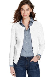 Tommy Hilfiger Long-Sleeve Cable-Knit Cardigan