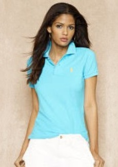 Skinny-Fit Cotton Mesh Polo