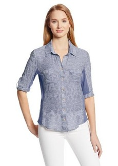 Democracy Women's Woven Striped Button-Up Shirt