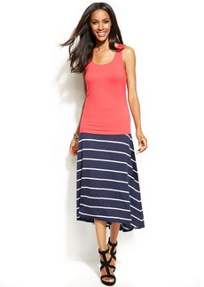 INC International Concepts Striped High-Low Skirt