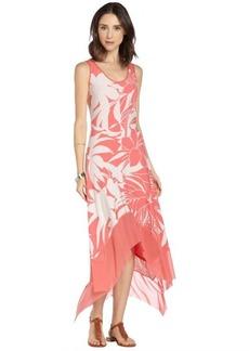 Marc New York sunset stretch floral print maxi dress