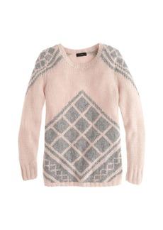 Handknit tile sweater