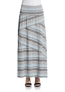 Max Studio Striped Maxi Skirt