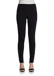 Saks Fifth Avenue BLACK Vegan-Leather Paneled Leggings