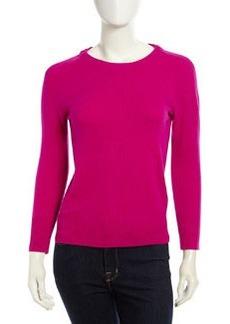 Diane von Furstenberg Cashmere-Blend Sweater, Gardenia/Navy