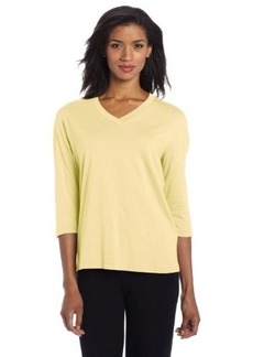 Hue Sleepwear Women's 3/4 Sleeve V-Neck Tee