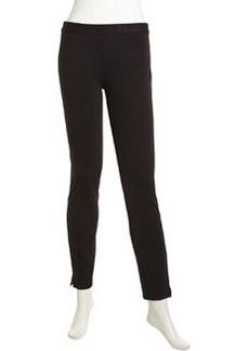 Laundry by Shelli Segal Form-Fitting Stretch Ponte Pants, Black