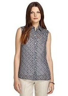 Four Points Sleeveless Silk Blouse