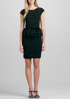 Luma Feather-Peplum Dress   Luma Feather-Peplum Dress