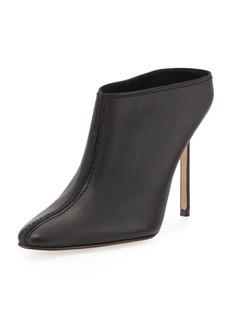 Manolo Blahnik Samba High-Heel Leather Mule