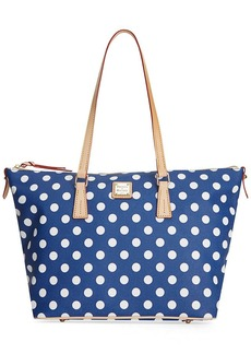 Dooney & Bourke Polka Dot Zip Top Tote