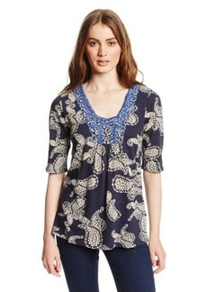 Lucky Brand Women's Paisley-Printed Top
