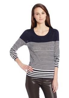 Lucky Brand Women's Denver Striped Sweater