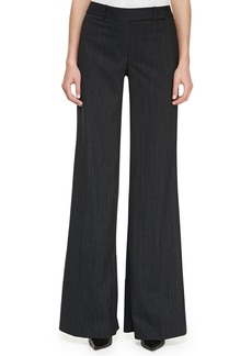 Michael Kors Pinstriped Wide-Leg Pants
