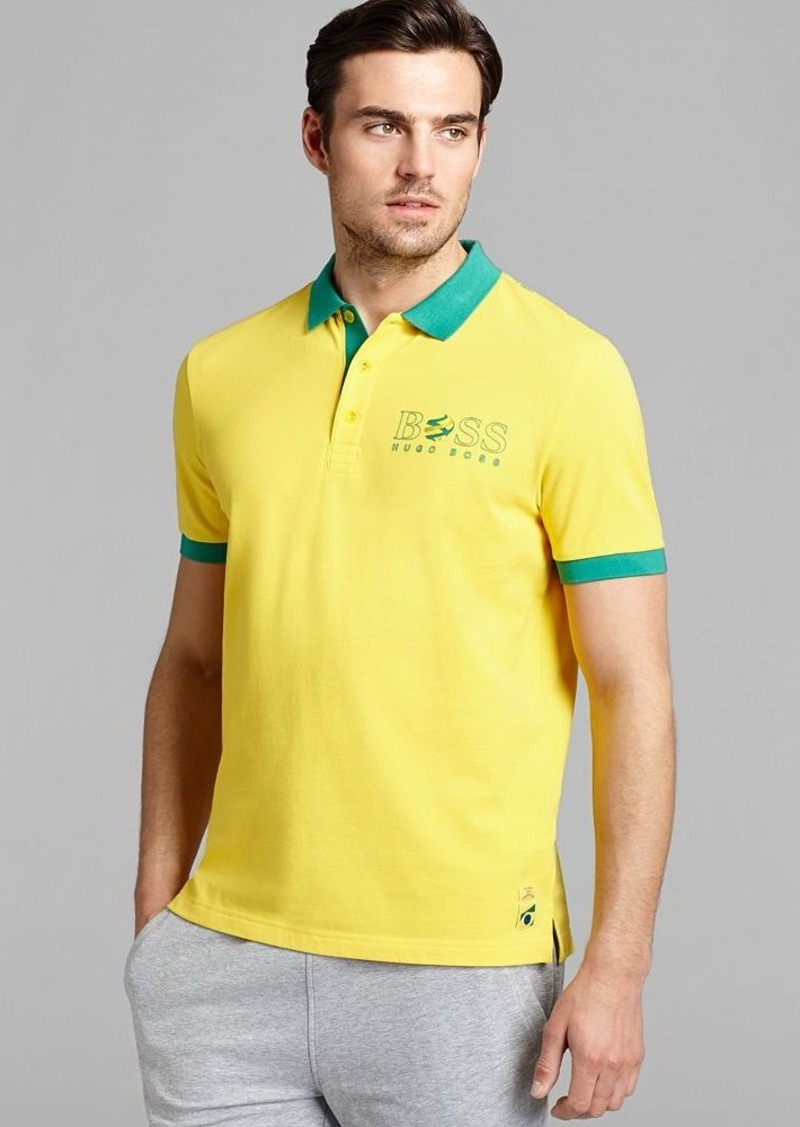 Hugo boss boss green paddy flag special edition brazil for Hugo boss green polo shirt sale