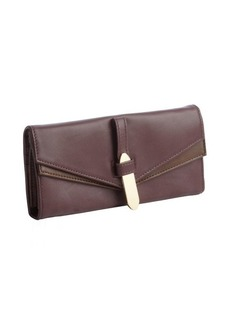 Kooba plum leather trifold continental wallet