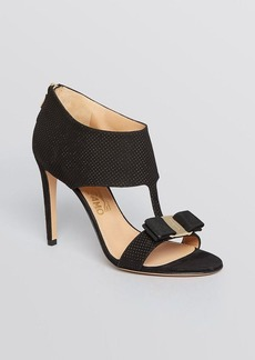 Salvatore Ferragamo Sandals - Pellas Dot Suede High Heel