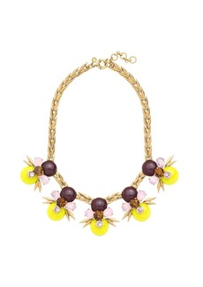 Kiwi crystal statement necklace