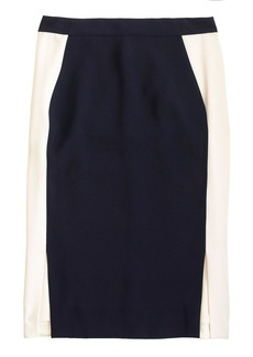 Soft pencil skirt in colorblock