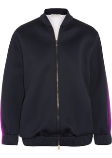 Stella McCartney Two-tone scuba bomber jacket
