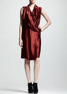 Lanvin Techno-Satin Wrap Dress