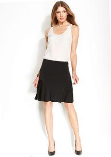 MICHAEL Michael Kors Knit Flounce-Hem Skirt