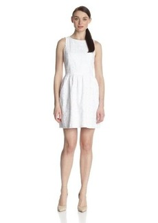 Kensie Women's Embroidered Eyelet Dress