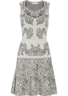 Zac Posen Jacquard-knit mini dress