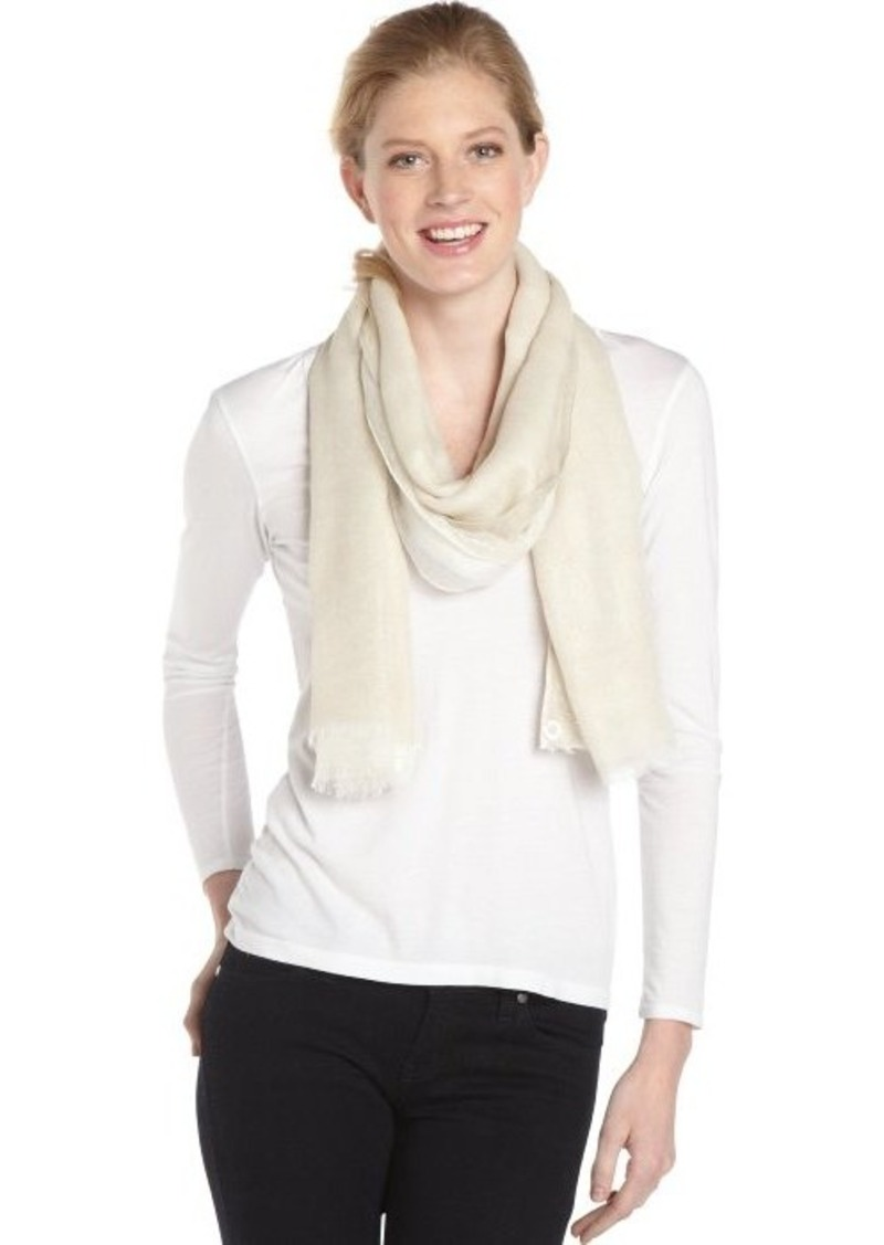 Calvin Klein latte and gold glitter three layer scarf