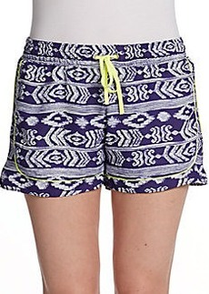 Saks Fifth Avenue GRAY Inka Printed Shorts