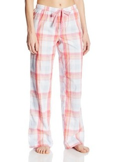 Tommy Hilfiger Women's Woven Contrast Cuff Pajama Pant